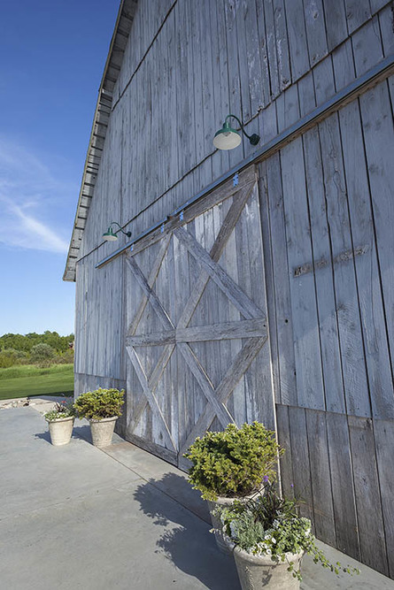 Shanahan's barn entrance and outdoor patio