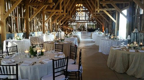 wedding reception at Charlevoix events barn
