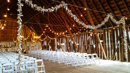 Wedding ceremony at Shanahan's Barn